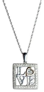 Jewelry Unlimited Ladies,Multi,Tone,Silver,Round,Diamond,Love,Fashion,Pendant,Necklace,14,Ct