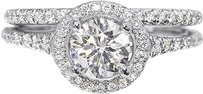 Jewelry Unlimited 14k,White,Gold,Ladies,1.25,Ct,Round,Diamond,Solitaire,Bridal,Engagement,Ring,Set