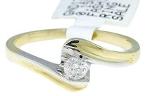 Jewelry Unlimited 10k,Yellow,Gold,Round,Cut,Engagement,Bridal,Solitaire,Band,Diamond,Ring,0.15,Ct