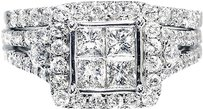 Jewelry Unlimited 2.0ct,Ladies,14k,White,Gold,Princess,Round,Diamond,Engagement,Bridal,Ring,Set