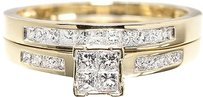 Jewelry Unlimited 10k,Yellow,Gold,Ladies,Princess,Diamond,Engagement,Wedding,Bridal,Ring,Set,12ct