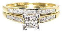 Jewelry Unlimited 14k,Yellow,Gold,Ladies,Princess,Diamond,Engagement,Wedding,Bridal,Ring,Set,13ct