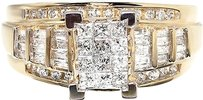 Jewelry Unlimited 10k,Yellow,Gold,Ladies,Invisible,Princess,Diamond,Engagement,Wedding,Ring,0.90ct