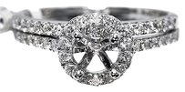 Jewelry Unlimited Ladies,Round,Cut,Diamond,Halo,Semi,Mount,Egagement,Ring,In,14k,White,Gold,.60,Ct