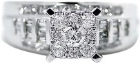 Jewelry Unlimited Ladies,Round,Cut,Pave,Set,Diamond,Engagement,Ring,In,10k,White,Gold,1.03,Ct