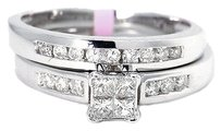 Jewelry Unlimited Ladies,Princess,Cut,Diamond,Engagement,Bridal,Ring,In,10k,White,Gold,12,Ct