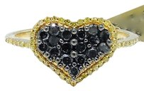 Jewelry Unlimited 10k,Yellow,Gold,Round,Cut,Black,Canary,Diamond,Heart,Engagement,Fashion,Ring