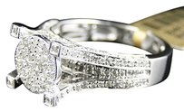 Jewelry Unlimited Ladies,10k,White,Gold,Round,Cut,Pave,Diamond,Engagement,Fashion,Ring,1.0,Ct