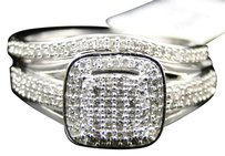 Jewelry Unlimited 10k,Ladies,White,Gold,Round,Cut,Diamond,Bridal,Engagement,Wedding,Ring,Set