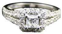 Jewelry Unlimited White,Gold,Princess,Cut,Solitaire,Diamond,Engagement,Wedding,Bridal,Ring,Set,1ct