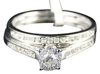 Jewelry Unlimited 10k,Ladies,White,Gold,Round,Diamond,Channel,Bridal,Wedding,Engagement,Ring,Set