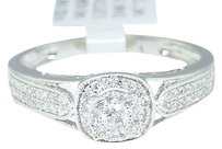 Jewelry Unlimited 0.25ct,Ladies,14k,White,Gold,Round,Diamond,Solitaire,Look,Engagement,Ring