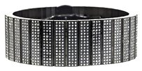 Jewelry Unlimited ,Mens,316,Stainless,Steel,Black,Pvd,Finish,Diamond,Solid,16,Row,Bracelet,8,Ct