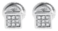 Jewelry Unlimited White,Gold,Finish,Mens,Ladies,Round,Pave,Diamond,5mm,Bezel,Studs,Earrings,120ct