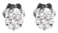 Jewelry Unlimited 14k,White,Gold,Mensladies,Round,Diamond,3mm,Flower,Cluster,Stud,Earrings,110ct