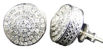 Jewelry Unlimited Mens,Ladies,10k,White,Gold,Diamond,3d,Round,Shape,Stud,Earrings,10,Mm