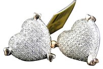 Jewelry Unlimited Ladies,10k,Rose,Gold,Diamond,Heart,Pave,Shape,Stud,Earrings,15,Mm,1.10,Ct