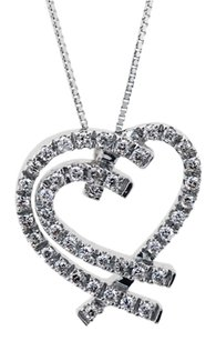 Gorgeous Diamond Heart Pendant in 14K White Gold