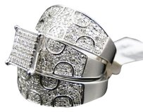 Jewelry Unlimited Mens,Ladies,White,Gold,Diamond,Engagement,Bridal,Wedding,Ring,Trio,Set,1.10,Ct
