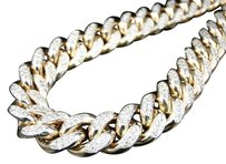 Jewlery Unlimited Mens,Solid,Yellow,Gold,Miami,Cuban,Genuine,12,Mm,Diamond,Chain,Necklace,22.5,Ct