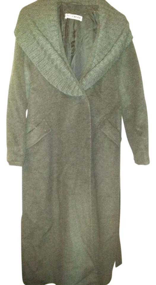 Jil Sander Grey Made In Italy Winter with Knitted Collar ...