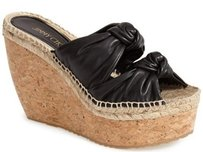 Jimmy Choo Priory Knotted Black Platforms