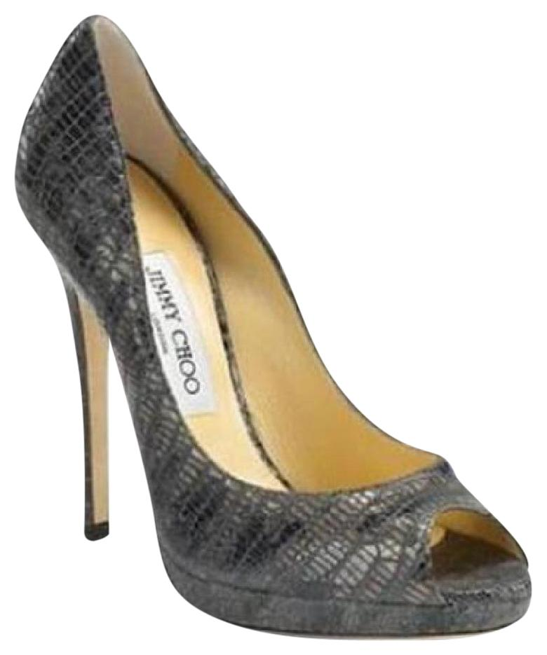 cheap sale best place Jimmy Choo Embossed Pointed-Toe Pumps clearance sale yMWarOVkbF