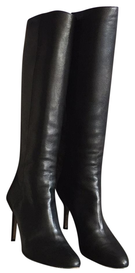 Jimmy Choo Black (Buttery Leather) Knee High Boots/Booties Size US 8.5 Regular (M, B)