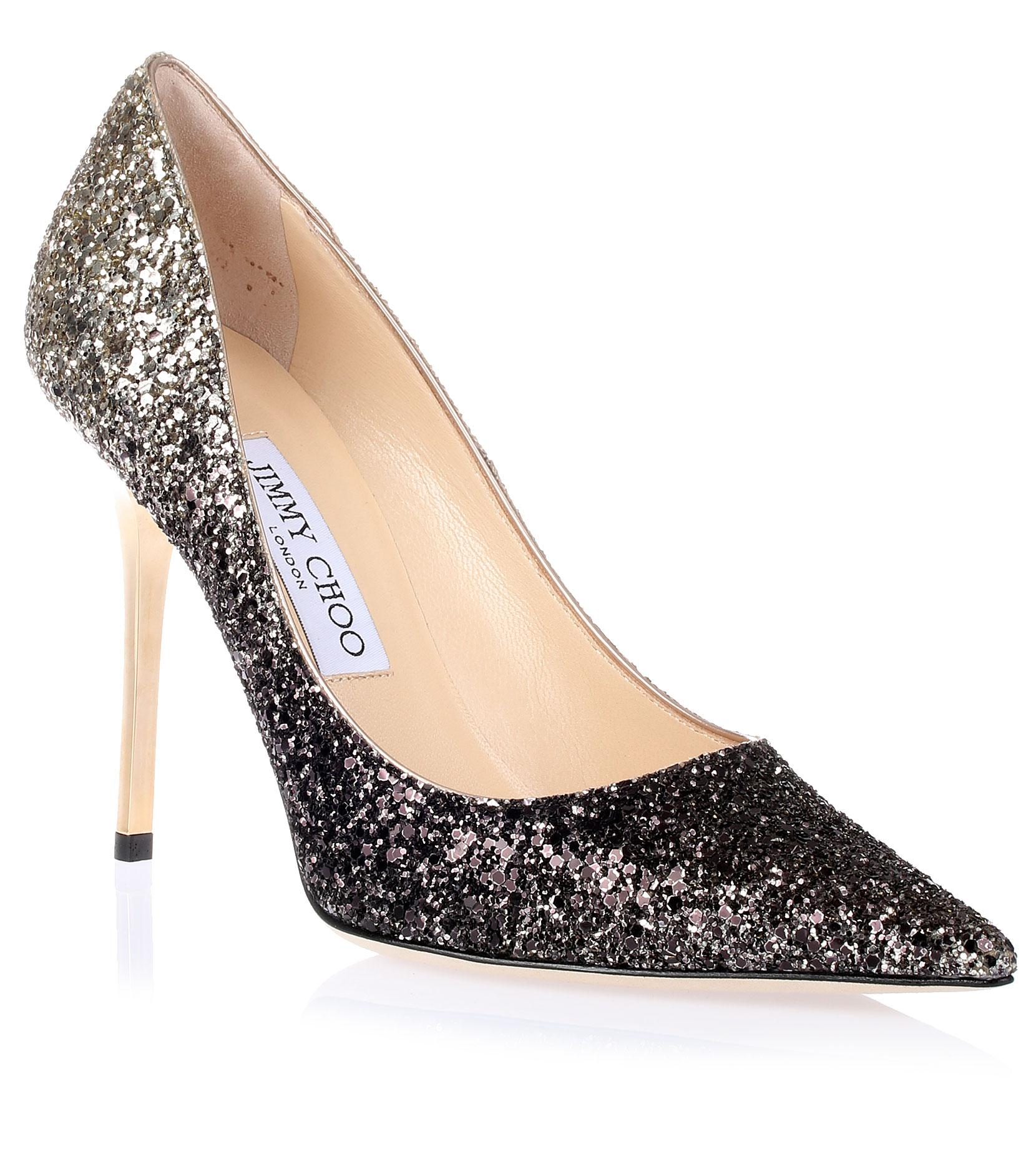 7293d40bf0 ... store jimmy choo ombre glitter abel pointed toe metallic black gold  pumps 74030 1d0f2