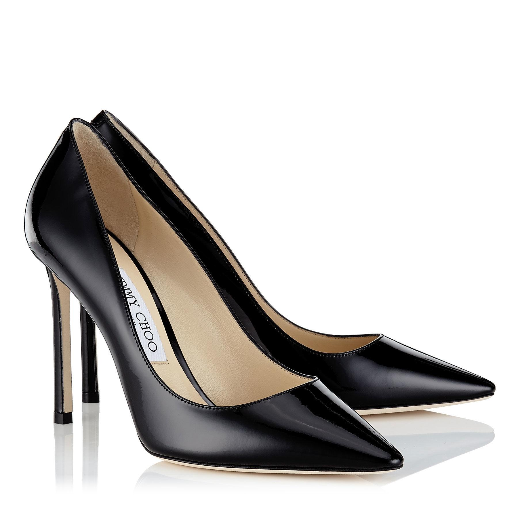 Jimmy Choo Black New Romy 100 Gclassic Patent 5 Pumps Size EU 35.5 (Approx. US 5.5) Regular (M, B)