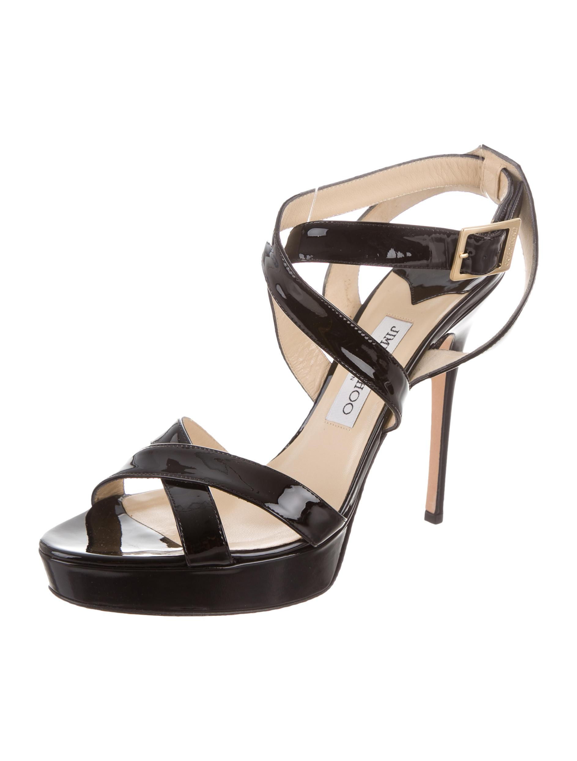 Jimmy Choo Multistrap Platform Wedges 100% authentic for sale discount visit buy cheap footlocker finishline cheap sale excellent extremely online aPtLolmV