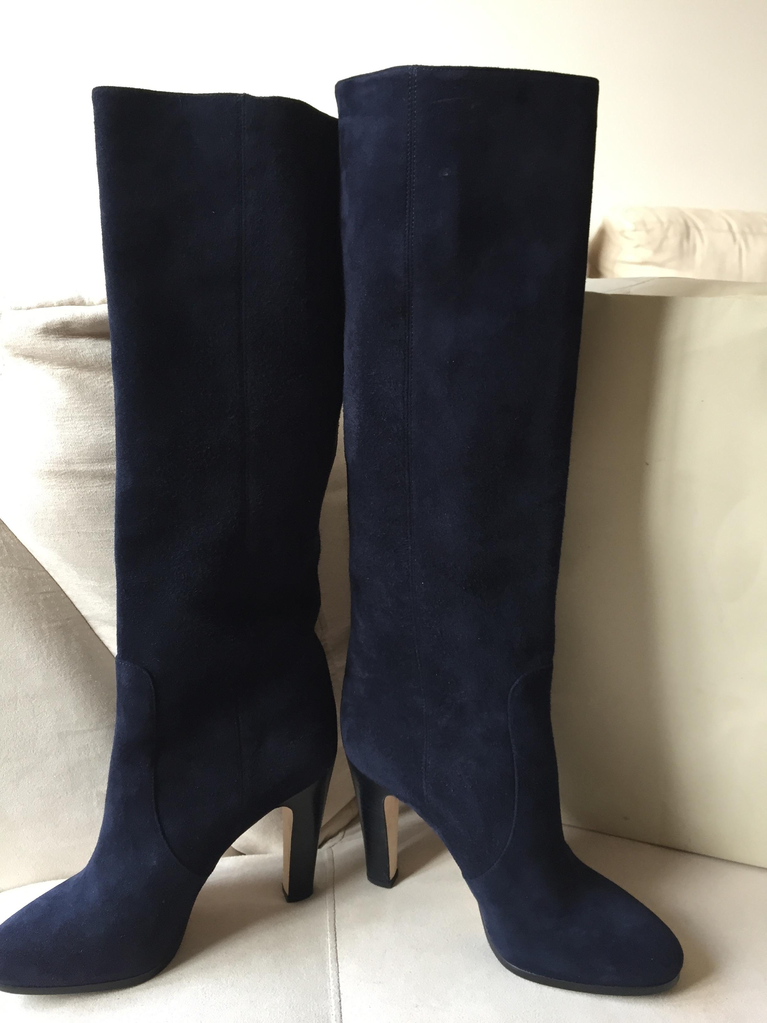 jimmy choo new tall grand suede knee