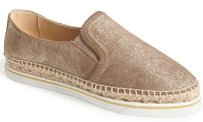 Jimmy Choo Dawn Espadrille Gold Flats