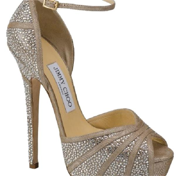 d6f506573638 Jimmy Choo Nude with Swarovski Crystal Kalpa Platforms Size US US US 6  Regular (M
