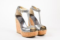 Jimmy Choo Anthracite Silver Sandals