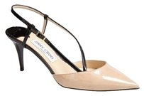 Jimmy Choo Mandy Sling Back Beige Platforms