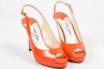 Jimmy Choo Coral Patent Red Sandals