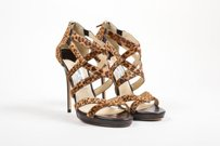 Jimmy Choo Tan Pony Brown Sandals