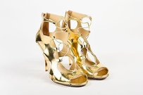 Jimmy Choo Metallic Gold Sandals
