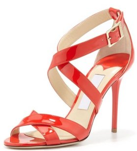Jimmy Choo Lottie Vamp Orange Sandals