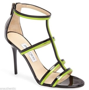 Jimmy Choo Thistle T Strap Black Sandals