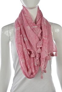 J.McLaughlin J Mclaughlin Womens Pink Floral Scarf One Casual