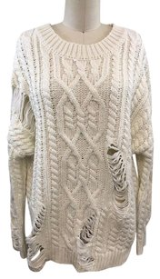 J.O.A. Joa Cable Knit Sweater