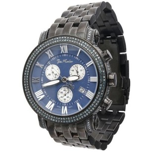 Joe Rodeo Joe Rodeo Classic Jcl111 Mens Blue Diamond Watch Ct. Black Pvd Metal 46mm