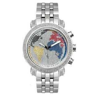 Joe Rodeo Mens Diamond Watch Joe Rodeo Classic Jcl46 1.75 Ct World Map Dial