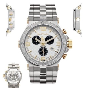Joe Rodeo Mens Diamond Watch Joe Rodeo Phantom Jptm23 2.25 Ct Chronograph White Dial