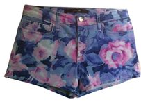 JOE'S Jeans Stretchy Floral Mini/Short Shorts Tainted Rose Water Multi-Color