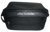 John Varvatos Toiletry Cosmetic Case Black Travel Bag