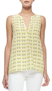 Joie Aruna Sleeveless Diamond Top Acid Lime