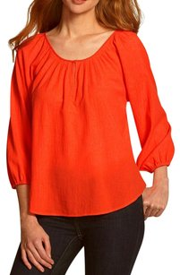 Joie Crepe Keyhole Bohemian Top Red